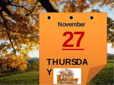 November THURSDAY