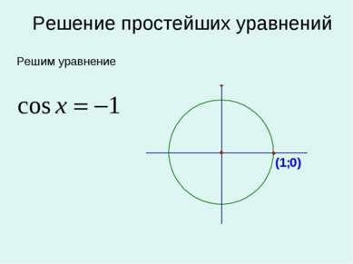 Решение простейших уравнений Решим уравнение