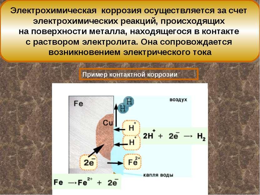 Электрохимическая коррозия осуществляется за счет электрохимических реакций, ...