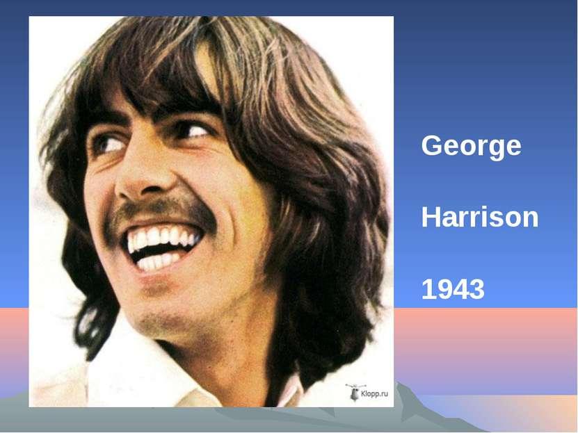 George Harrison 1943
