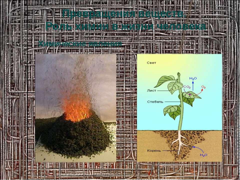 Химические явления Превращения веществ. Роль химии в жизни человека