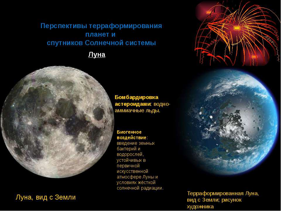 Перспективы терраформирования планет и спутников Солнечной системы Луна Бомба...