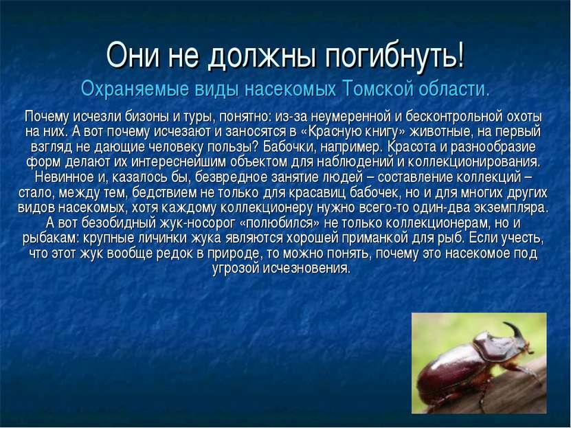 Они не должны погибнуть! Охраняемые виды насекомых Томской области. Почему ис...