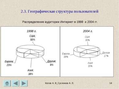 Котов А. В_Суслонов А. Л. * 2.3. Географическая структура пользователей Распр...