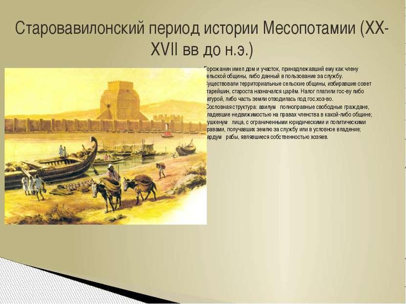 Горожанин имел дом и участок, принадлежавший ему как члену сельской общины, л...