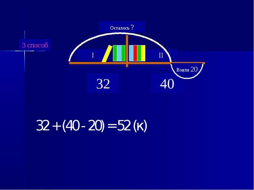 32 + (40 - 20) = 52 (к)