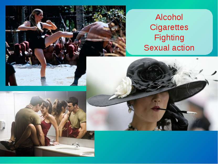 Alcohol Cigarettes Fighting Sexual action