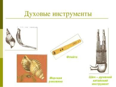 Духовые инструменты Шен – древний китайский инструмент Морская раковина Флейта