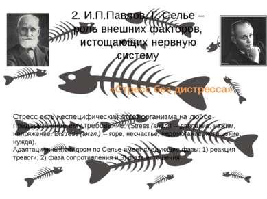 2. И.П.Павлов, Г. Селье – роль внешних факторов, истощающих нервную систему С...