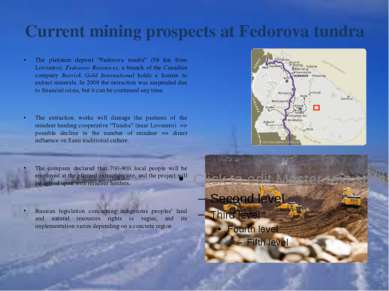 "Current mining prospects at Fedorova tundra The platinum deposit ""Fedorova tu..."