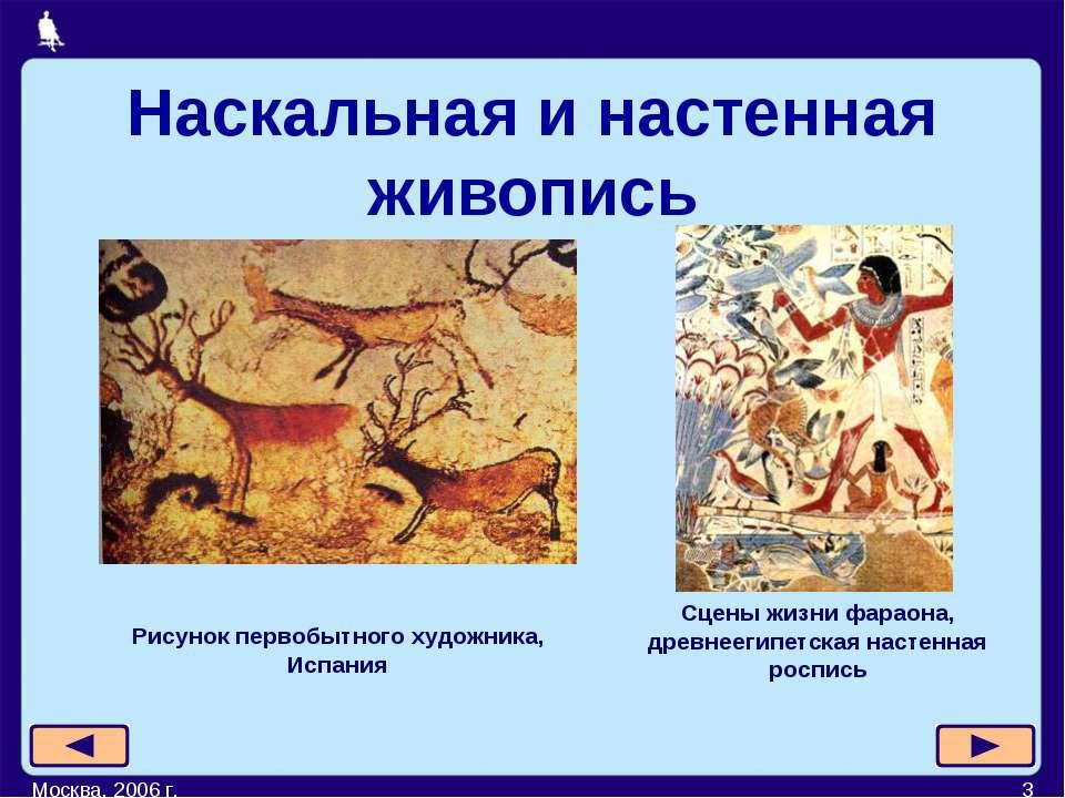 Москва, 2006 г. * Рисунок первобытного художника, Испания Сцены жизни фараона...
