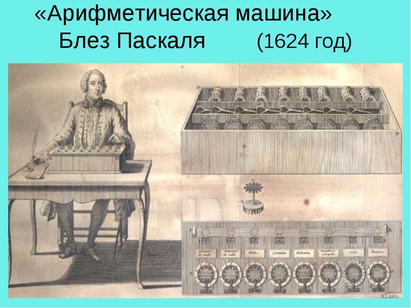 «Арифметическая машина» Блез Паскаля (1624 год)