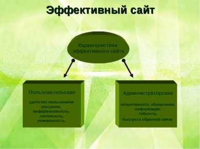 Эффективный сайт Пользовательские удобство пользования ресурсом, информативно...