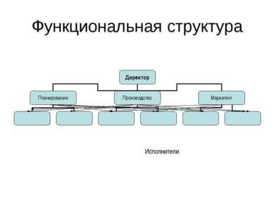 Функциональная структура Исполнители