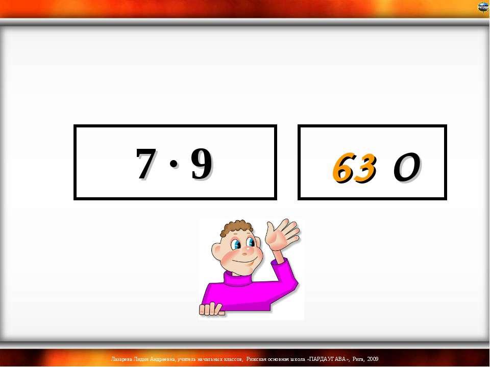 7 · 9 63 О Лазарева Лидия Андреевна, учитель начальных классов, Рижская основ...