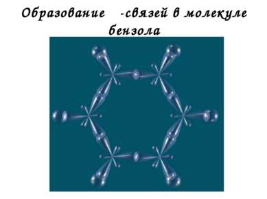 Образование σ-связей в молекуле бензола