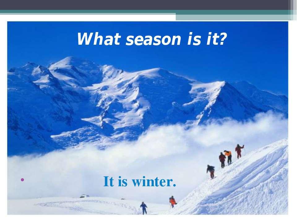 What season is it? It is winter.