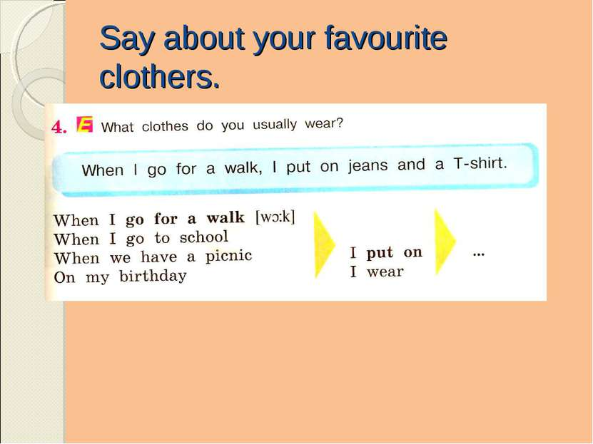 Say about your favourite clothers.