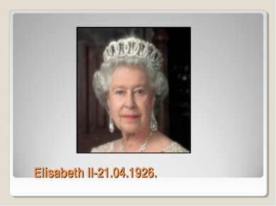 Elisabeth II-21.04.1926.