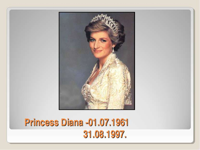 Princess Diana -01.07.1961 31.08.1997.