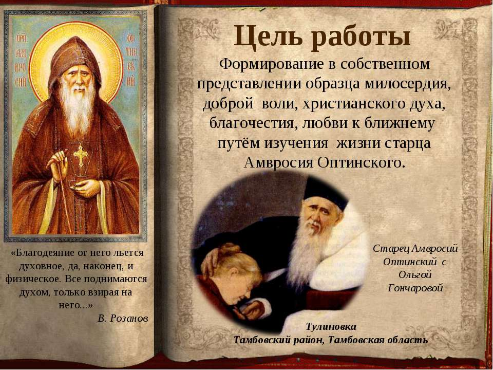 Формирование в собственном представлении образца милосердия, доброй воли, хри...