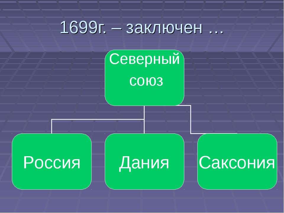 1699г. – заключен …