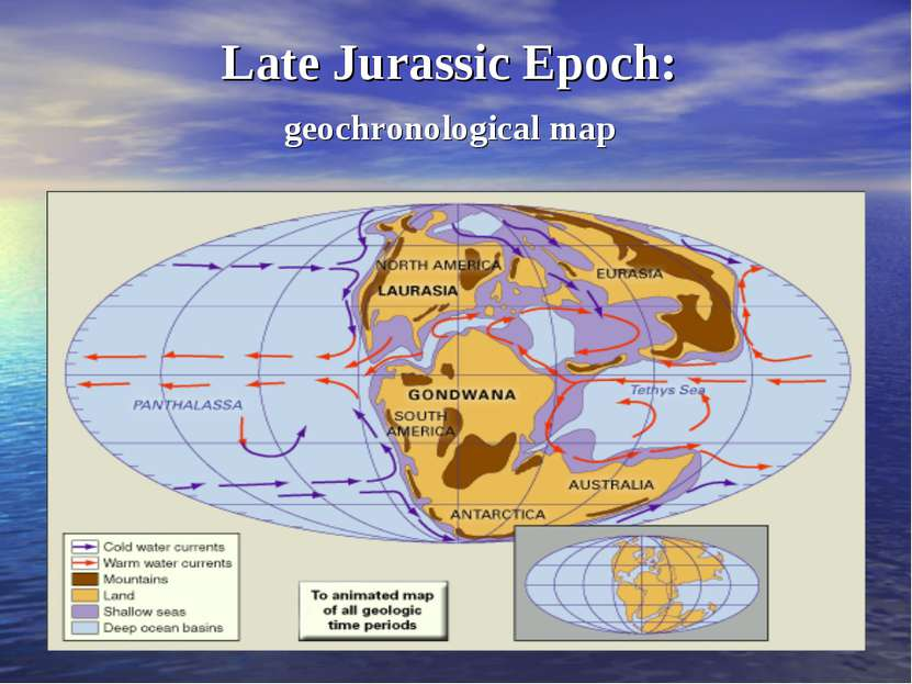 Late Jurassic Epoch: geochronological map