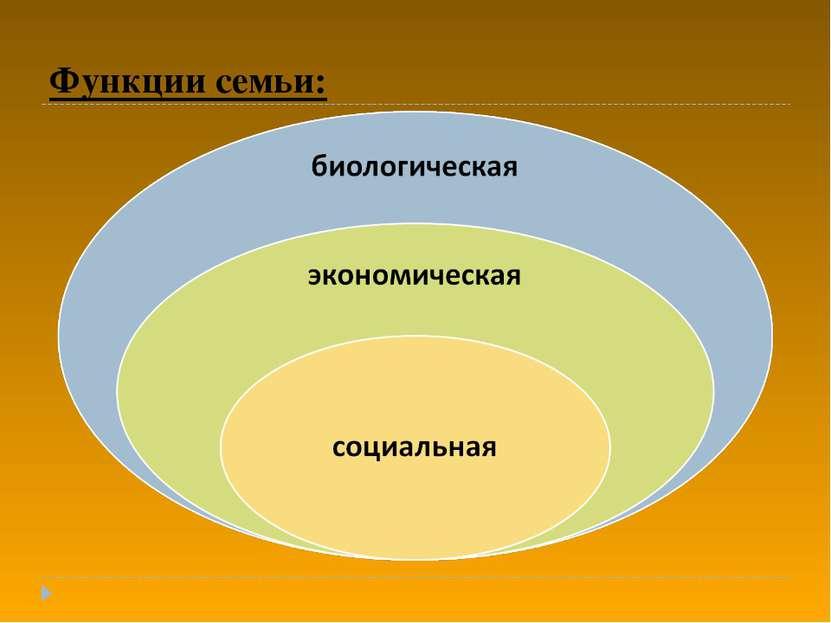 Функции семьи: