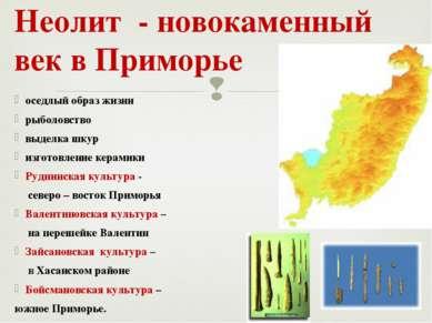 оседлый образ жизни рыболовство выделка шкур изготовление керамики Руднинская...