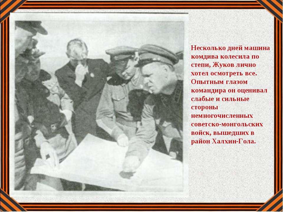 Несколько дней машина комдива колесила по степи, Жуков лично хотел осмотреть ...
