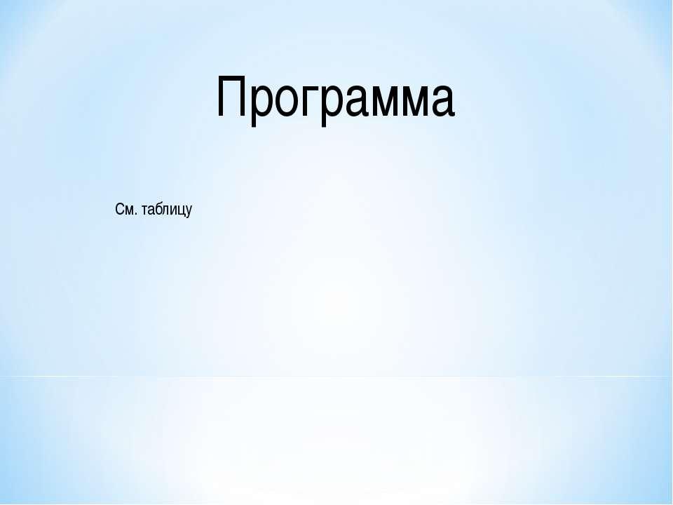 Программа См. таблицу