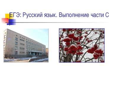 ЕГЭ: Русский язык. Выполнение части С