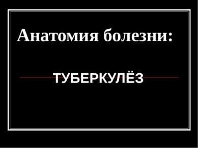 Анатомия болезни: ТУБЕРКУЛЁЗ