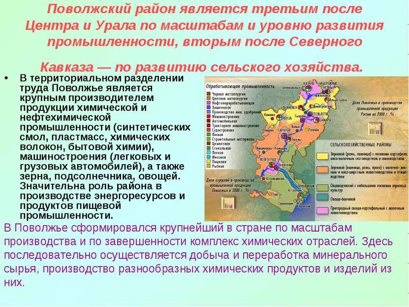 Поволжский район является третьим после Центра и Урала по масштабам и уровню ...
