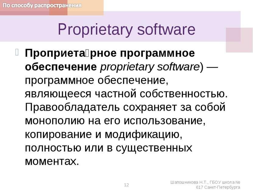 Proprietarysoftware Проприета рное программное обеспечение proprietarysoftw...