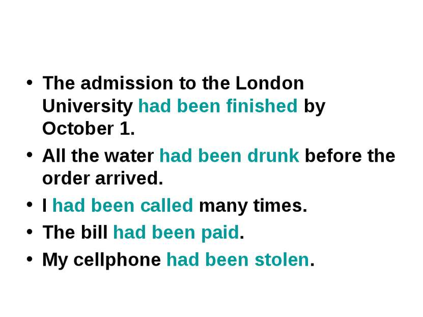 The admission to the London University had been finished by October 1. All th...