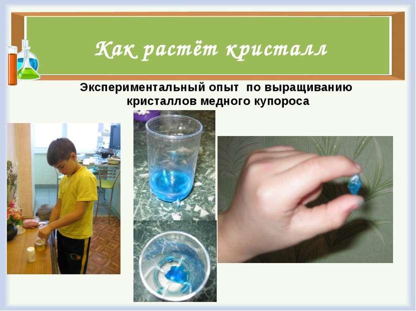 Как растёт кристалл Экспериментальный опыт по выращиванию кристаллов медного ...