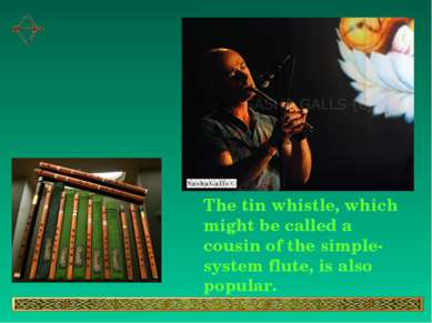 The tin whistle, which might be called a cousin of the simple-system flute, i...