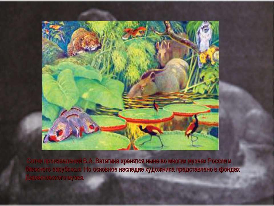 Сотни произведений В.А. Ватагина хранятся ныне во многих музеях России и ближ...