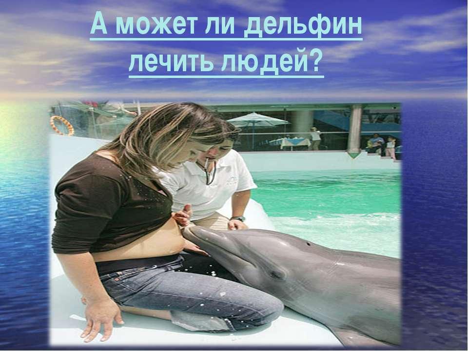 А может ли дельфин лечить людей?