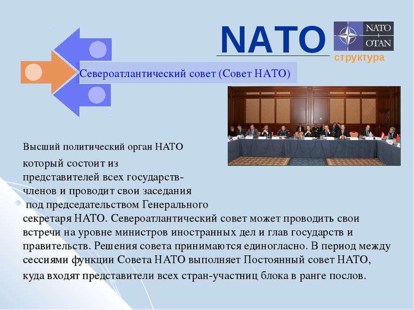 Высший политический орган НАТО который состоит из представителей всех государ...