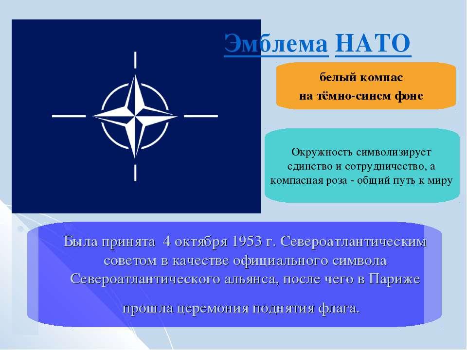 Была принята 4 октября 1953 г. Североатлантическим советом в качестве официал...