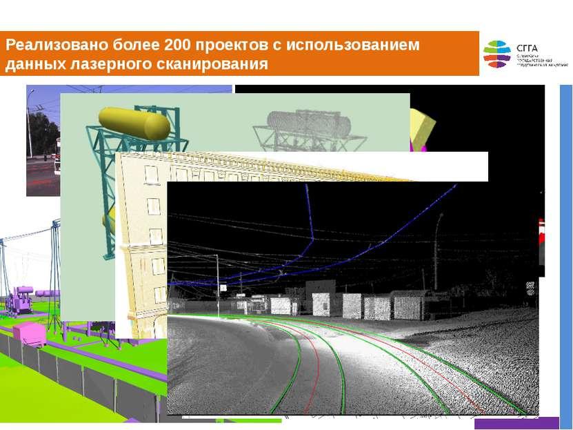 Реализовано более 200 проектов с использованием данных лазерного сканирования