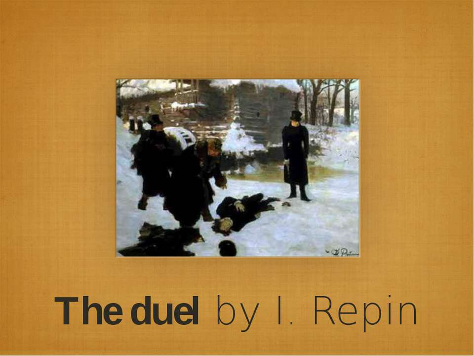 The duel by I. Repin