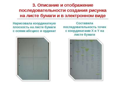 3. Описание и отображение последовательности создания рисунка на листе бумаги...