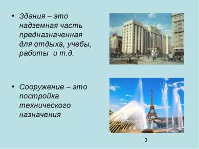 Здания – это надземная часть предназначенная для отдыха, учебы, работы и т.д....