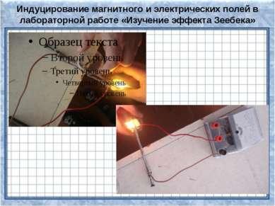 Индуцирование магнитного и электрических полей в лабораторной работе «Изучени...