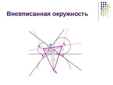 Вневписанная окружность A B C Ka Kb Kc ra rb rc r