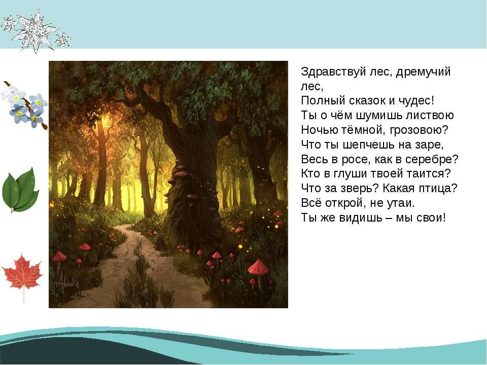 Кто написал этот стих что дремучий лес