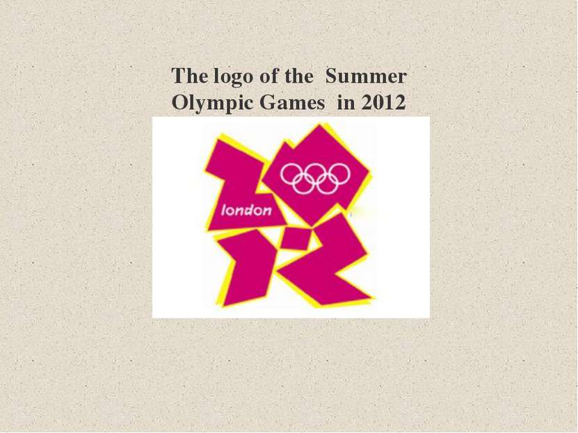 The logo of the Summer Olympic Games in 2012
